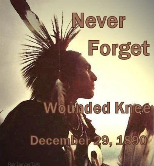 "Profile of a Lakota Indian""Never Forget Wounded Knee; December 29, 1890"""
